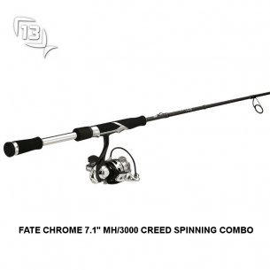 Combo de pesca 13 Fishing FATE CHROME 7.1 MH/3000 CREED SPINNING COMBO