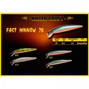 Señuelo Killer Craft Fast Minnow 70 SP
