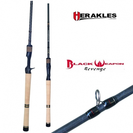 Caña de pesca de HERAKLES Black Weapon Revenge Casting 7,0 MH